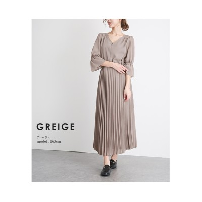 【la-gemme】プリーツワンピース (ワンピース)Dress