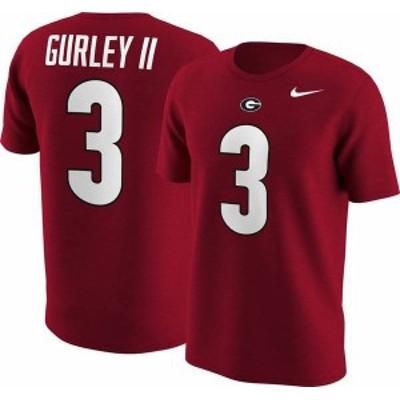 ナイキ メンズ Tシャツ トップス Nike Men's Georgia Bulldogs Todd Gurley #3 Red College Alumni T-Shirt