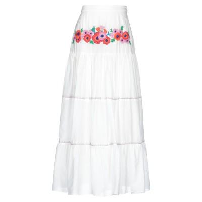 CAROLINA K ロングスカート ホワイト XS コットン 90% / シルク 10% ロングスカート