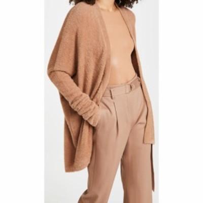 ラポワント LAPOINTE レディース カーディガン トップス Soft Teddy Oversized Cocoon Cardigan Camel