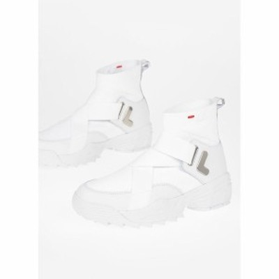 FILA/フィラ White レディース Fabric and Leather DISRUPTOR Sneakers dk