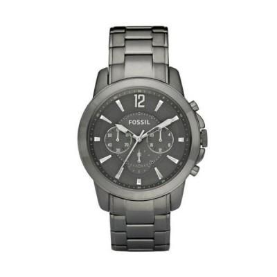 腕時計 フォッシル メンズ Fossil FS4584 Men's Grant Grey Dial Bracelet Chronograph Watch