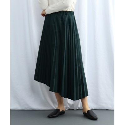 WORLD ONLINE STORE SELECT / 【ウォッシャブル】ウエストゴム アシンメトリープリーツスカート WOMEN スカート > スカート