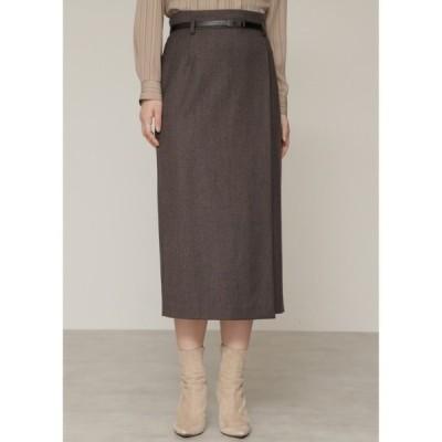 スカート ウールサキソニーセットアップスカート