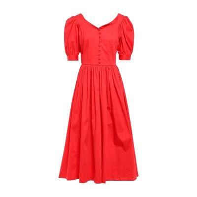 PERSEVERANCE 7分丈ワンピース・ドレス レッド 8 コットン 97% / ポリウレタン 3% 7分丈ワンピース・ドレス