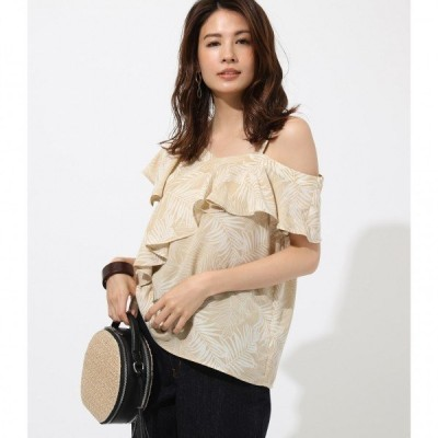 ASYMMETRY LEAF TOPS /レディース/トップス カットソー  半袖【MARKDOWN】