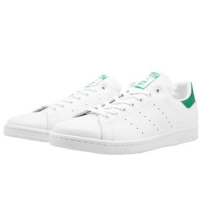 アディダス スタンスミス メンズ 緑 オリジナルス メンズ スニーカー 白 ホワイト グリーン M20324 adidas Men's Stan Smith Shoes White/Green