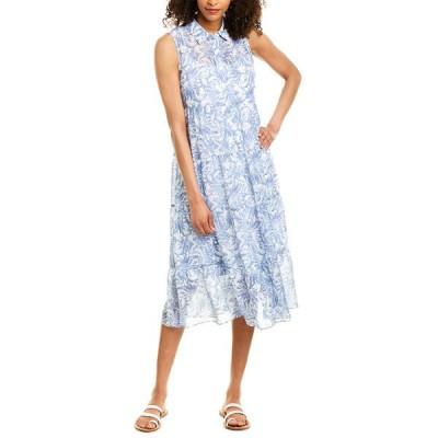 ロンドンタイムス ワンピース トップス レディース London Times Midi Dress denim