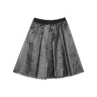 ES'GIVIEN ひざ丈スカート ブラック S ナイロン 65% / レーヨン 35% ひざ丈スカート