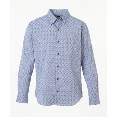 JOSEPH ABBOUD/ジョセフ アブード 【JOE COTTON】スラブフラワープリント シャツ ブルー系5 LL