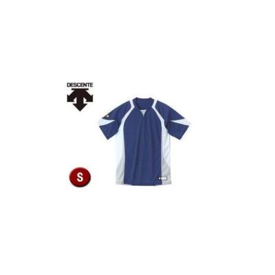 DESCENTE/デサント  DB113-NVWH セカンダリーシャツ 【S】 (ネイビー×ホワイト×シルバー)
