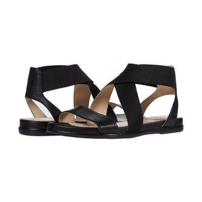 Cole Haan コールハーン レディース 女性用 シューズ 靴 サンダル Grand Ambition Elastic Sandal - Black Leather/Tonal Elastic/CH Gunmetal Logo Tab