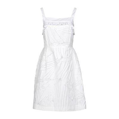 カプッチ CAPUCCI ミニワンピース&ドレス ホワイト 40 コットン 69% / アクリル 17% / シルク 9% / ナイロン 5% ミニ