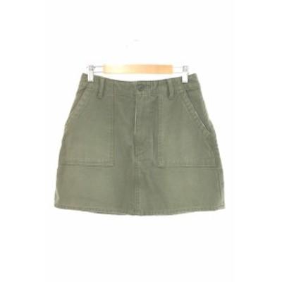 【中古】スライ SLY ORIGINAL MILITARY スカート 台形 ミニ ジップフライ 2 緑 グリーン /MY2 レディース