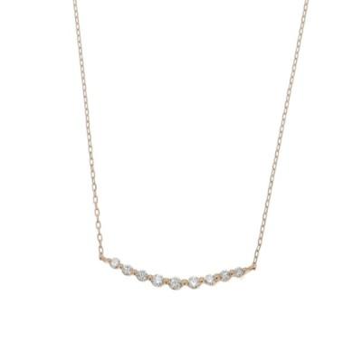 THE PLATINUM SELECT / 【D-COLLECTION】ディーコレクション 18Kゴールド ラインストーン ダイヤモンド ネックレス 0.1ct WOMEN アクセサリー > ネックレス