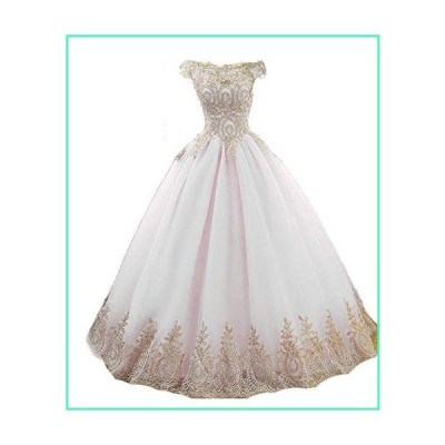 AWBJN DNWVA Prom Dress Long Tulle Off Evening Dress Special Occasion Dress 12 White並行輸入品