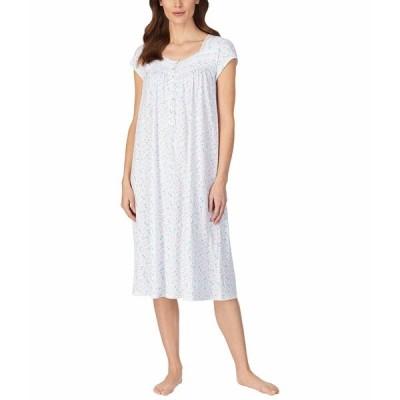エイレーンウェスト ナイトウェア アンダーウェア レディース Cap Sleeve Ballet Nightgown Aqua Multi