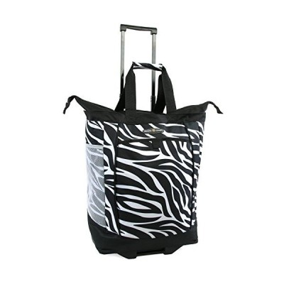 Pacific Coast Signature Large Rolling Shopper Tote Bag, Zebra, One Size 並行輸入品