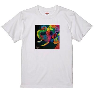 レインボーアート Tシャツ 象 ゾウ ぞう LC04