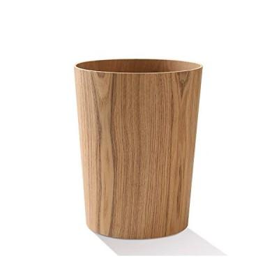 VISEN ゴミ箱 木製ゴミ箱 木目調ごみ箱 ダストボックス 天然木 9L大容量 北欧 シンプル デザイン インテリア 寝室のリビングルームのオフィス