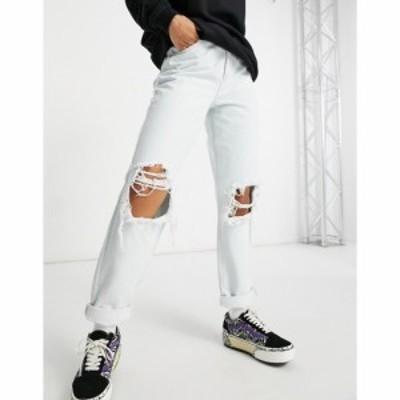 エイソス ASOS DESIGN レディース ジーンズ・デニム Asos Design Organic High Rise Slouchy Mom Jean In Antique White With Extreme Ri