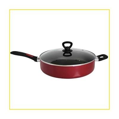 新品Mirro A79682 Get A Grip Aluminum Nonstick Jumbo Cooker Deep Fry Pan with Glass Lid Cover Cookware, 12-Inch並行輸入品