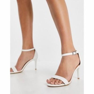ニュールック New Look レディース サンダル・ミュール シューズ・靴 Classic Heeled Sandal In White ホワイト