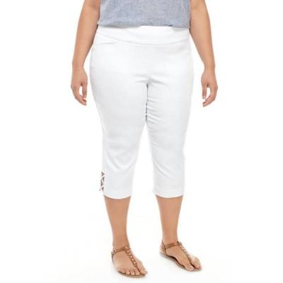 キム ロジャース レディース カジュアルパンツ ボトムス Plus Size Luxe Capri Pants with Crisscross Hem