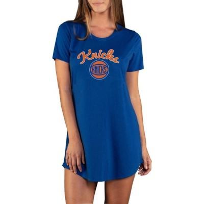 コンセプト スポーツ Concepts Sport レディース Tシャツ トップス New York Knicks Marathon Blue Night T-Shirt