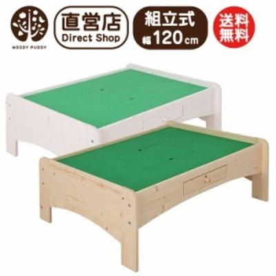 【別送品】天然木プレイテーブル(幅120cm)※組立品【テーブル PLAY TABLE 日本製 木製 子供 子ども机 つくえ キッズプレイ ウッディプ