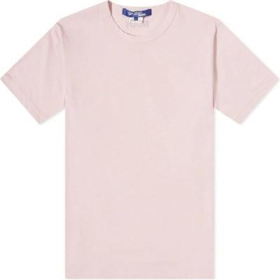 ジュンヤ ワタナベ Junya Watanabe MAN メンズ Tシャツ ロゴTシャツ トップス MAN Back Logo Tee Pink