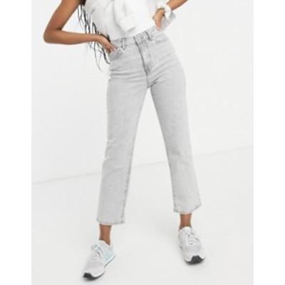 ニュールック レディース デニムパンツ ボトムス New Look straight leg jeans in pale gray Dark gray