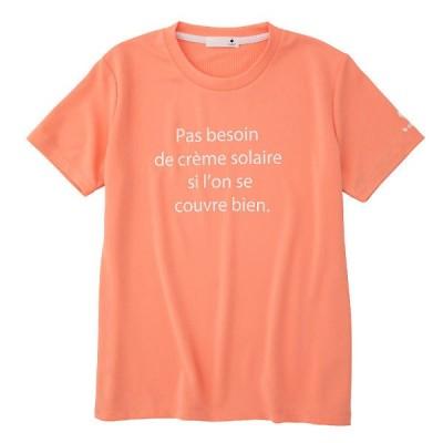 le coq sportif(ルコック) QMWSJA04  DFL マルチSP レディース  ショートスリーブ メッセージ Tシャツ 21FW