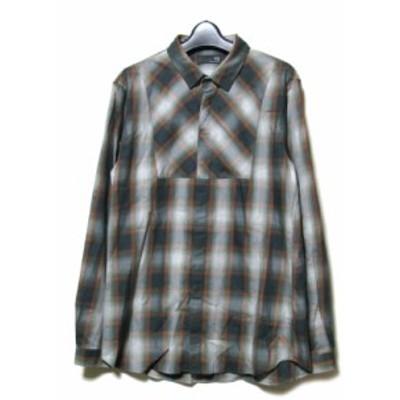 美品 uu uniqlo×undercover アンダーカバー ユニクロ「M」限定 デザインチェックシャツ (緑 グリーン) 100044【中古】