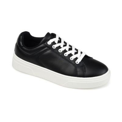 ジャーニーコレクション スニーカー シューズ レディース Women's Comfort Foam Leeon Sneaker Black