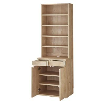 家具 収納 ホームオフィス家具 パソコンデスク ホームライブラリーシリーズ キャビネット 幅60cm 高さ180cm 591603