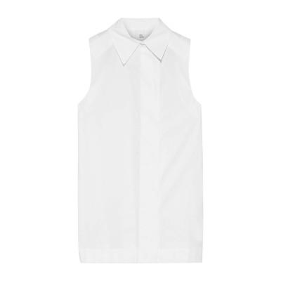 IRIS & INK シャツ ホワイト 4 コットン 100% シャツ