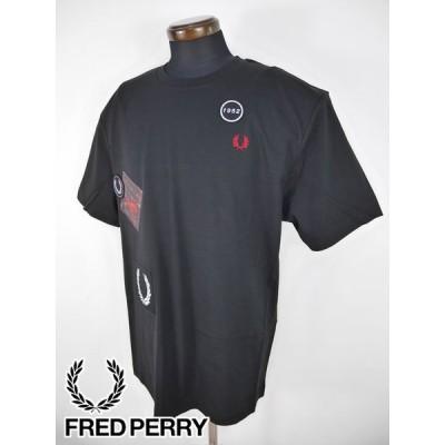 メール便・ゆうパケット フレッドペリー FRED PERRY ウェア 半袖クルーネックシャツ (M/L寸:メンズ) 2021春夏新作モデル m1663