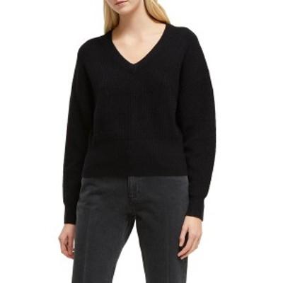 フレンチコネクション レディース ニット&セーター アウター River Vhari V-Neck Sweater BLACK