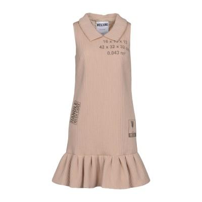 モスキーノ MOSCHINO ミニワンピース&ドレス ベージュ 40 79% ポリエステル 21% シルク ミニワンピース&ドレス