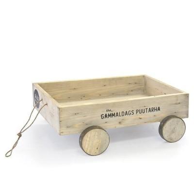 azi-azi  ウッデンカート    AZ-1758            花 ガーデニング 花台 鉢 プランター プランターラック プランターカート    木製