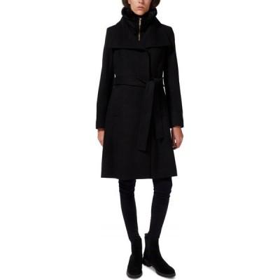サム エデルマン Sam Edelman レディース コート ラップコート アウター Faux-Fur-Lined Belted Wrap Coat Black