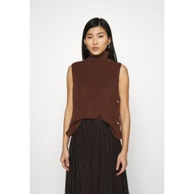 エスプリ レディース ニット&セーター アウター ROLLI VEST - Jumper - brown brown
