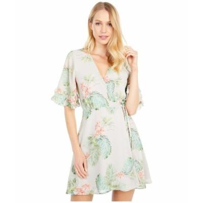 ロストアンドウォーター ワンピース トップス レディース Lost in Paradise Mini Dress Taupe Tropical