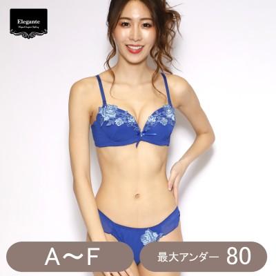 バラ刺繍ブラ&ショーツセット(エレガンテ/Elegante)