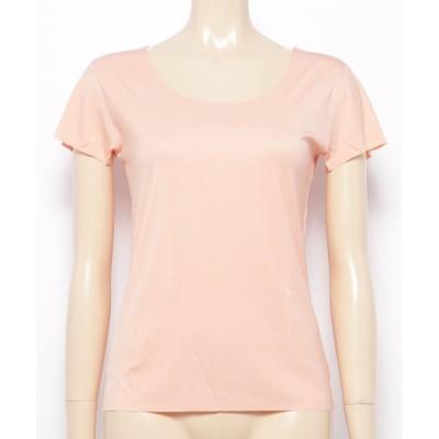 (aimoha/アイモハ)選べる シームレス U型 V型 Tシャツ/レディース ベージュ