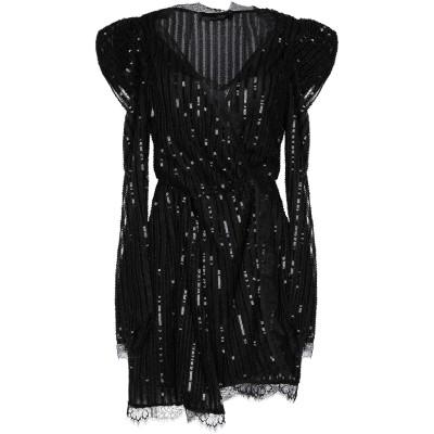 .AMEN. ミニワンピース&ドレス ブラック 38 ポリエステル 100% / ナイロン ミニワンピース&ドレス