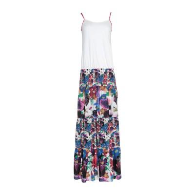 ノリータ NOLITA ロングワンピース&ドレス ホワイト XS レーヨン 100% ロングワンピース&ドレス
