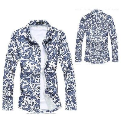 長袖シャツ メンズ カジュアルシャツ 総柄 アロハシャツ 大きいサイズ リゾート ビーチ おしゃれ 2021夏