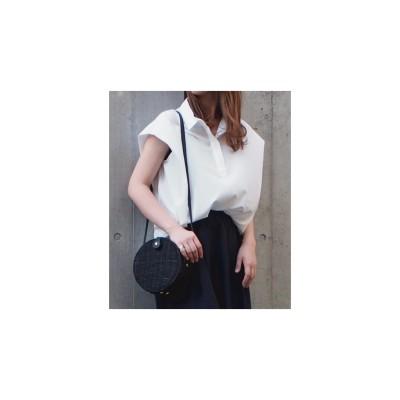 INTERPLANET フィブリルサテンスキッパーシャツ(オフホワイト)【返品不可商品】
